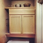 Our laundry room was in desperate need of some cabinetry. Now it just needs paint!