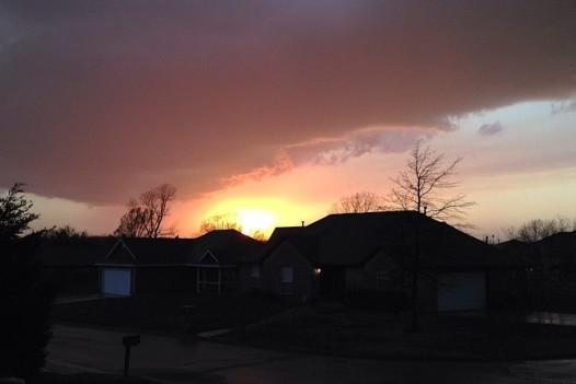 Watching the storm roll in was nice. I felt it in my bones. #nofilter