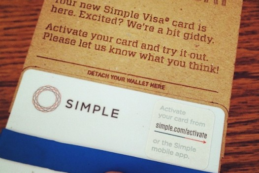 I got my new card from Simple (my new bank) today and the packaging is laser etched cardboard with a gnarly font. I love it. Can my designer friends recognize the font?