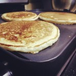 The boys and I made mommy buttermilk pancakes for breakfast. They turned out delicious, of course.