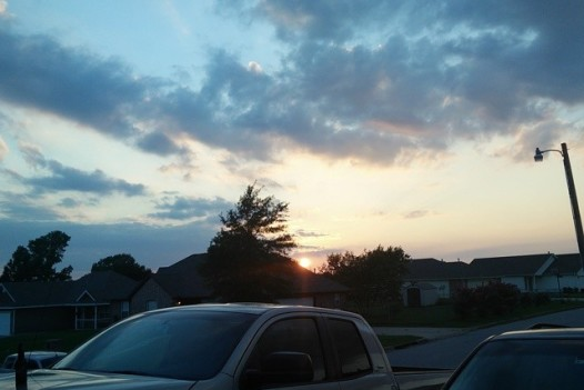 What a beautiful sky to enjoy tonight  in Tulsa. Oh, and the yard work is done. #winning #nofilter