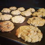 We're serving up cookies in the Copley house tonight; With 20% coconut flour. Thank you, Mr. Akins.