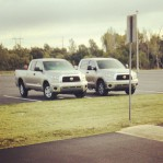 Time for the weekly meeting of the gold 2007 Toyota Tundra owners club.