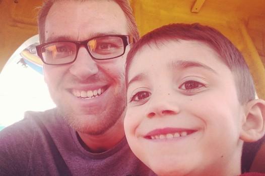 Me and my boy riding rides at Oktoberfest.