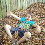 """""""I like the swimming pool leaves, Daddy."""""""
