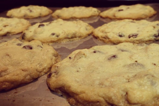 These were made… Reese's Peanut Butter and Chocolate chips.