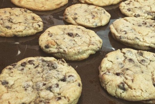 Aiden caught me making these tonight. I bribed him back to bed with a couple of chocolate chips, and a promised cookie in the morning. Joy is going to love me. #springbreak