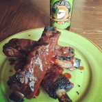 Thanks Joy for the ribs. The sauce is where it's at for me, drowning that is. Thanks to my neighbor for the beer(s); great neighbor. :)